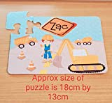 12 or 63 piece personalised Digger, construction, lorry jigsaw puzzle. Birthday, gift, girls, boys, children, kids, educational