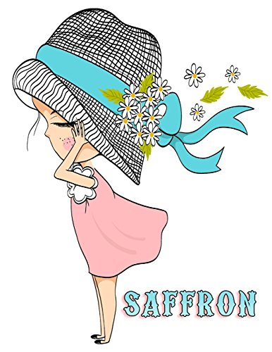 Saffron: 105 Lined Pages, Journal, Diary, Notebook, Personalized with Name Christmas, Birthday, Friendship Gifts for Girls, Teens and Women por Black River Art