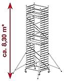 Fahr-Gerüst Breitaufbau 8,30m arbeitshöhe