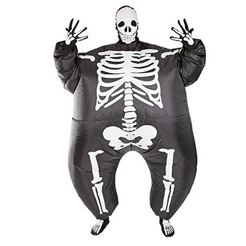 Aufblasbares Erwachsenes Kostüm Sprengen Fasching Karneval (Skelett) (Halloween Aufblasbare Kostüme)