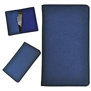 DCR Pu Leather case cover for Micromax Canvas 4 A210 (blue)