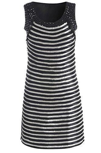Damen Enganliegendes Partykleid größe 10-12-14 Schwarz