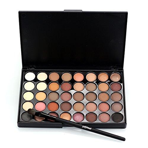 Ombre à Paupières Maquillage Palette 40 Couleur De Couleur Vive, CAN_Deal Matte Shimmer Glitter Ton Cosmétiques à Base d'Eau Palette Multicolore Beauté Tool Kit+brosse cosmétique