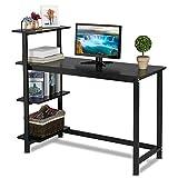Yaheetech Bureau d'ordinateur avec étagère Table de Bureau à Domicile Postes de...