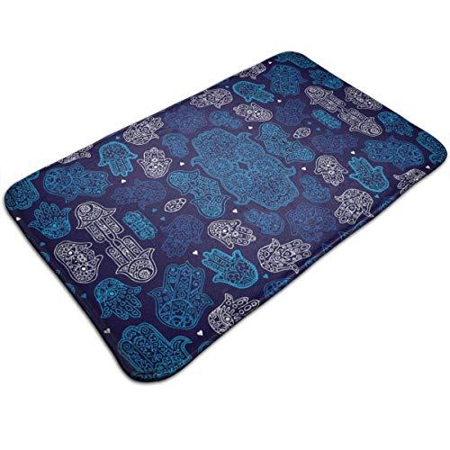 arthur thomas Hamsa Hand von marokkanischen arabischen Ornament Muster Memory Foam Badematte rutschfeste saugfähige super gemütliche Badezimmer Teppich Teppich (Badematte Marokkanischen)