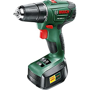 Bosch PSR 1800 LI-2 Cordless Drill Driver with 18 V Lithium-Ion Battery