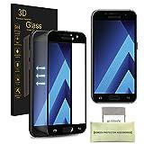 Samsung Galaxy A3 (2017) Pellicola Protettiva, AKPATI Temperato di Protezione in Vetro Dello Schermo 3D Toccare Alta Definizione Anti-Explosion Schermo Protezione - Nero