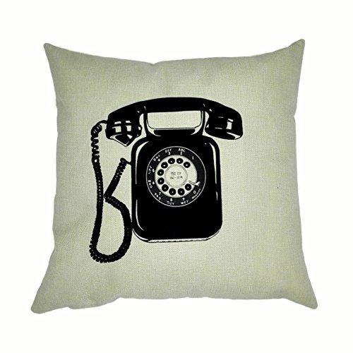joielavie funda de cojín funda de almohada teléfono Retro Vintage lino algodón mezcla cuadrado sofá cama Home casa Sofa 45x 45cm