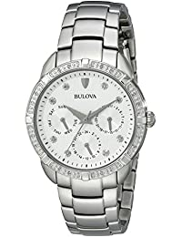 (CERTIFIED REFURBISHED) Bulova Diamond Analog White Dial Women's Watch - 96R195