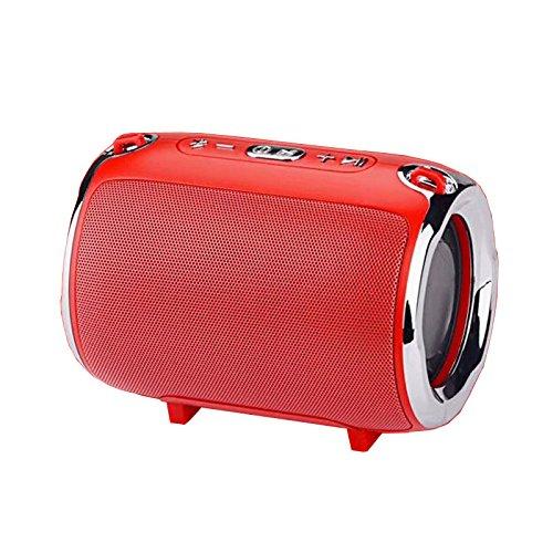 GJJ Kabellose Bluetooth Lautsprecher Serie Handschlaufe Subwoofer,rot,20 * 10 * 10 cm (Rot 10 Subwoofer)