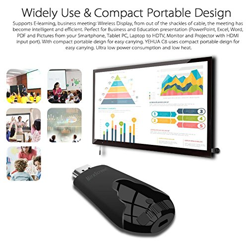 Leegoal Wireless Display Dongle  1080P 2 4G Streaming Media Wifi HDMI Display Adapter for iOS Android Smartphone  Support DLNA Airplay Mirror Miracast  Black