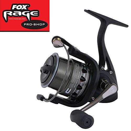 Fox Rage Prism C2500 Rolle, Angelrolle zum Spinnfischen, Spinnrolle, Angelrollen zum Spinnangeln, Rollen zum Spinnfischen