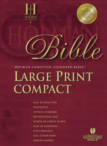 Holy Bible: Holman Christian Standard Bible, Blue, Bonded Leather Bible Snap, Large Print Compact