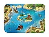 Spielteppich Ultrasoft - Rutschfest 100 x 150 cm (Piraten)
