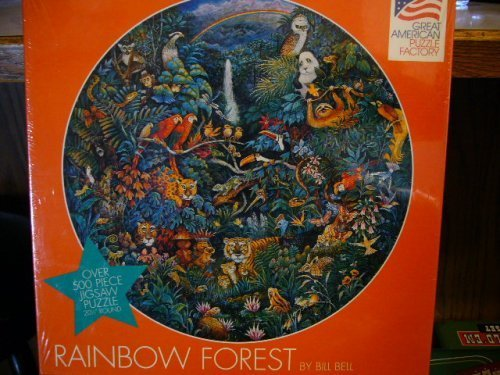 RAINBOW FOREST By Bill Bell (OVER 500 PIECE PUZZLE) by Great American  Puzzle Factory