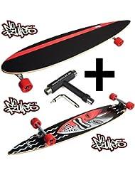 norules Gure Pintail Longboard (117cm + Fan tic26Skate Tool