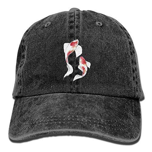 Desing shop Boy's Girl's Glacier Cap,Watercolor Koi Fish Jean Hat for Men Girl Unisex Goorin Kids Hat