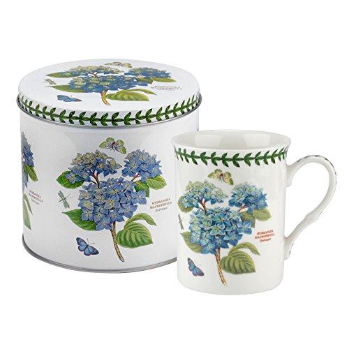 Botanic Garden Becher und Zinn set-hydrangea Motiv, Porzellan, mehrfarbig, 13x 13x 11,5cm -