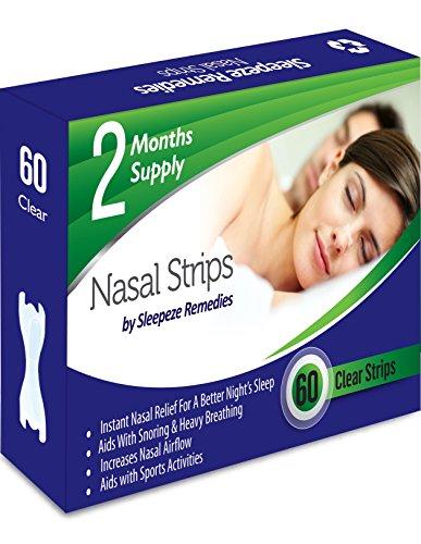 Tiras nasales claro x60 | Dilatador nasal Sleepeze