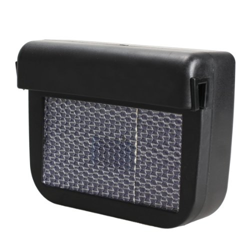 Demiawaking Solar Sun Powered Car Auto Air Vent Cool Cooler Vent Fan Radiator Black Test