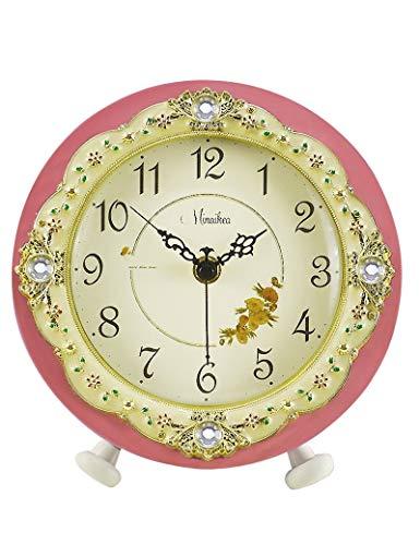BYZ Bell-Wanduhr Metall Genaue runde Candy Farbe Stumm die Uhr Europäische Mode Einfache Frische Ideen die Uhr Moderne Pastoralen Wohnzimmer Quarz-1 X Aa Batterie (Nicht Enthalten),C