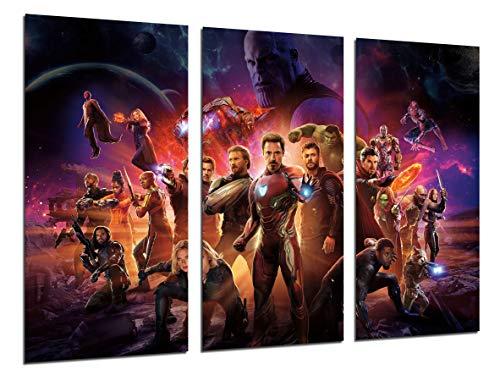 Cuadros Camara Modernes Fotografico Film Superheroes, Die Avengers Avengers Infinity War International, 97 x 62 cm, Ref. 27133 (Kunst Gerahmte Avengers Leinwand)