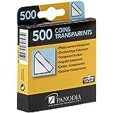 Panodia Boîte de 500 Coins Photos adhésifs Transparents - Marque française