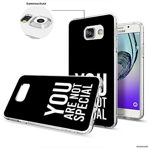 Motivo Serie 1 Custodia Rigida Iphone - Gatto corto, Samsung Galaxy A3 2017 You are non speciale nero