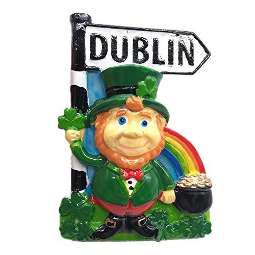 Kühlschrankmagnet Dublin Irland 3D Harz Handgemachtes Handwerk Touristische Reise Stadt Souvenir Sammlung Brief Kühlschrank Aufkleber Dublin-sammlung
