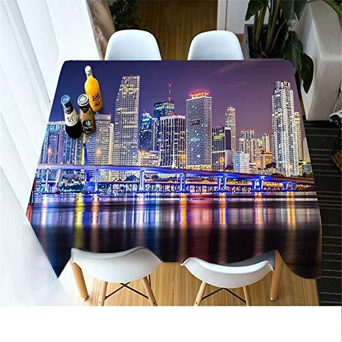 QWEASDZX Tischdecke Stoff Polyester 3D Digitaldruck Kleine Frische Dekorative Tischdecke Wiederverwendbare Rechteckige Tischdecke Geeignet Für Picknick Im Innen- Und Außenbereich Tischdecke 90x90 cm