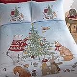 Weihnachtliches Bettwäsche-Set - Baumwoll-Polyester-Mischung - UK-Doppelbett - Der Abend vor Weihnachten