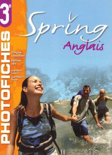 Spring anglais, classe de troisième, cycle d'orientation : photofiches