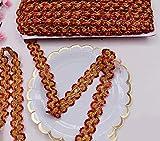 Lace Crafts - Costume Cosplay Costume écolo éco-responsable de 11 mètres Ruban de dentelle en argent 3D or pour accessoires de couture de robe de danse de scène - (Couleur: Rouge, Taille: 25MM)...
