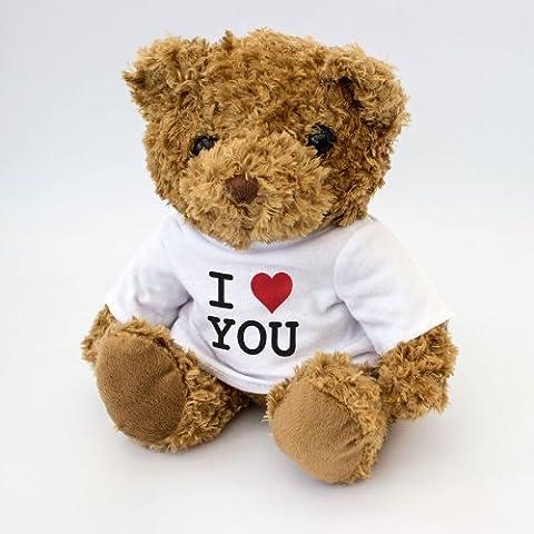 NUEVO - I LOVE YOU - Osito De Peluche - Adorable Lindo - Regalo Obsequio Valentine
