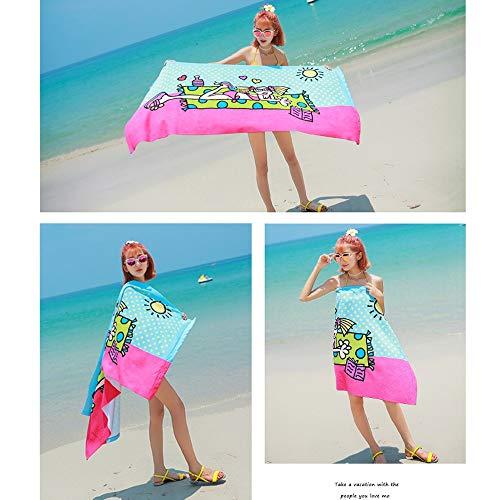 Linyuo Mikrofaser Handtuch, Schnell Trockene Strandtücher für Schwimmen und Reisen - Original Cruise Zubehör Oder Reise Geschenke für Frauen (Size : Style 1)