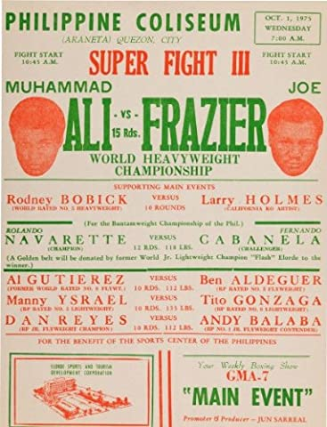 Muhammad Ali vs Joe Frazier reproduction boxing photo poster 40x30 cm