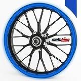Motoking Felgenrandaufkleber 360° - passend für 18 Zoll Felgen für Motorrad, Auto & mehr - REFLEKTIEREND DUNKELBLAU