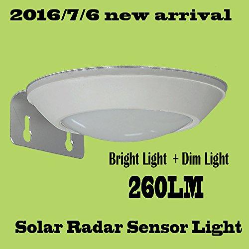 ABONGONE Bewegungssensor Solar Licht wasserdicht 16leds Straßenlampe Outdoor-Pfad Wandleuchte Sicherheit Spot Beleuchtung