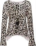 Pullover mit Allover-Leo-Print und Kettendetail