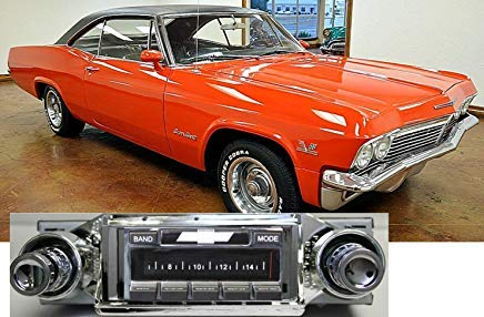 Custom Autosound Stereo kompatibel mit 1965 Chevy Impala USA-630 II High Power 300 Watt AM FM Autoradio