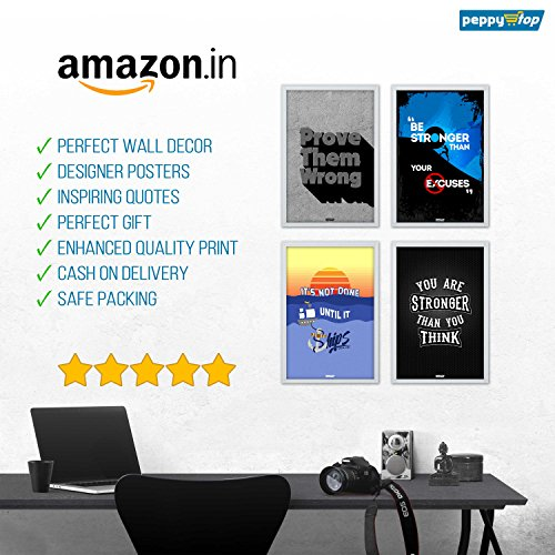 26% OFF on PeppyStop : Combo Pack of 4 Motivational Wall Posters and ...