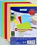 100 farbige Briefumschläge Din C6 bunte Kuvert