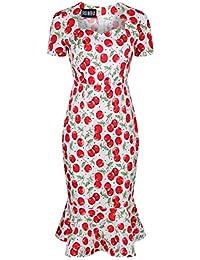 eb3906221e341 Amazon.it  ciliegie - Bianco   Vestiti   Donna  Abbigliamento