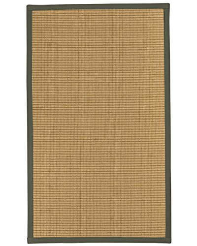 NaturalAreaRugs Cashmira Wolle/Sisal Teppich Bereich 2'15,2cm X 8' grün Bordüre (Wolle Bereich Teppiche 8x8)