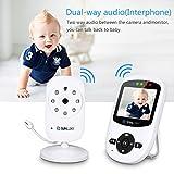 Babyphone – Babyphone mit Kamera Video babyphone Nachsicht und Temperaturüberwachung & 2-Wege-Gegensprechfunktion - 2