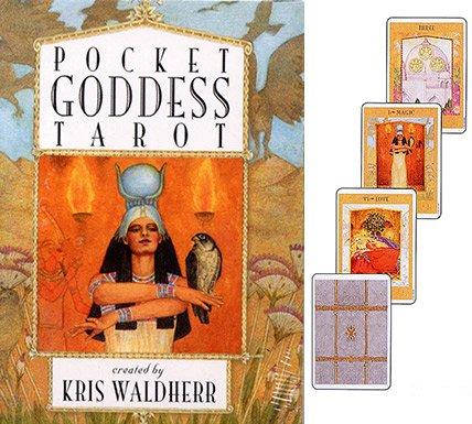 Baraja The Goddess Tarot por Kris Waldherr, Mazo de 78 Cartas con Instrucciones en Inglés (Bolsillo)