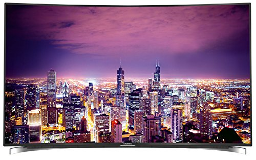 Grundig Fine Arts FLX 9591 BP 139 cm (55 Zoll) Curved Fernseher (Ultra-HD, Triple Tuner, 3D, Smart TV) - 3d 55 Smart Tv