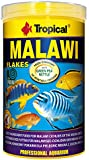 Tropical Malawi Mbuna Cichlids special flake vegetable high-protein fish food for daily feeding - 1000ml / 200g
