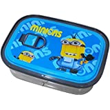 BUCA Colourful Lid Stainless Steel Lunch / Tiffin Box With Spoon For Boys And Girls (Blue, Medium)