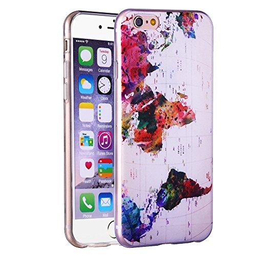 Aprtwin Étui Transparent en TPU Silicone pour Apple iPhone 6 / 6S en Transparent Fleur de Prunier Design[Style 01] ?1